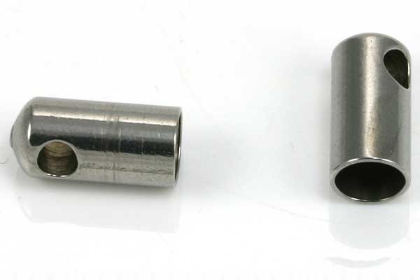 Rustfri stål enderør hul 4,2 mm 10 stk