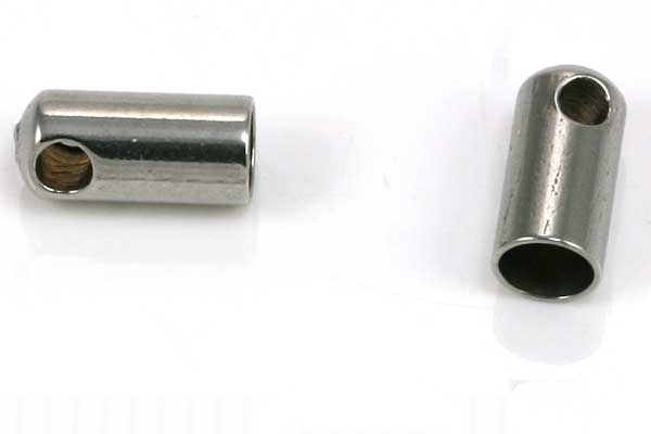 Rustfri stål enderør hul 3,5 mm 10 stk