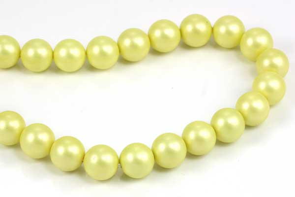 Citrongul frosted shell perle 10 mm