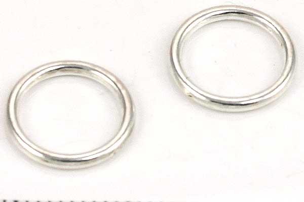 O-ringe Sølvbelagt lukkede 11 mm hul 20 stk