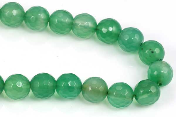 Grøn Onyx facetteret 8 mm