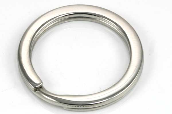 Nøglering rustfri stål flad 32 mm