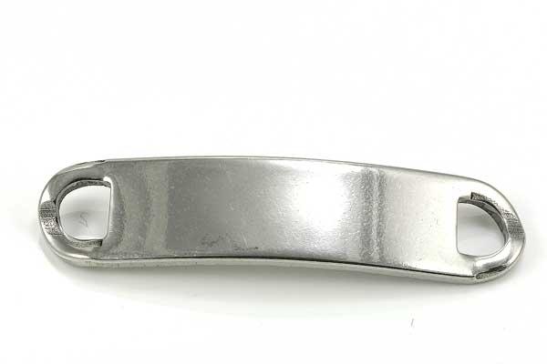Rustfri stål plade 44 x 10 mm