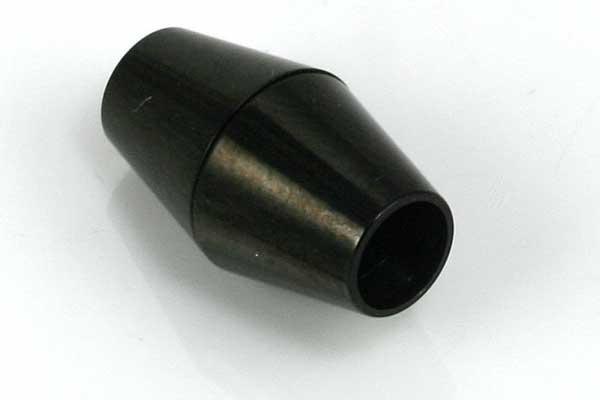 Rustfri stål lås sort 5 mm hul