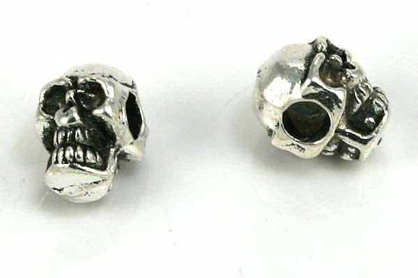 Metalperle skull 8x6 mm