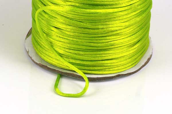Satinsnøre lime grøn 1,5 mm