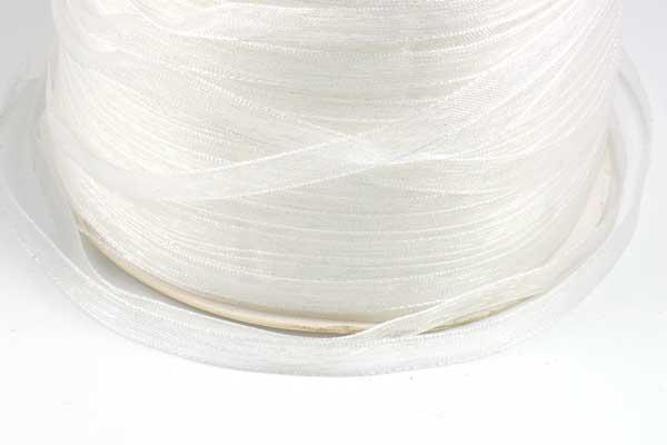 Organza bånd Hvid 6 mm