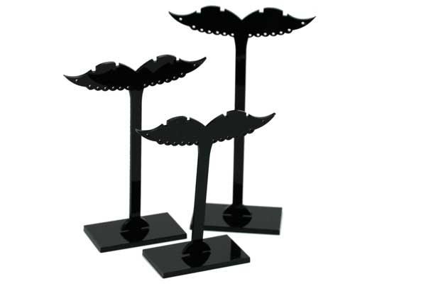 Display lille sort vinge Sæt med 3 stk.