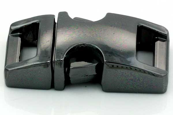 Lås til faldskærmsline sort aluminium Lille