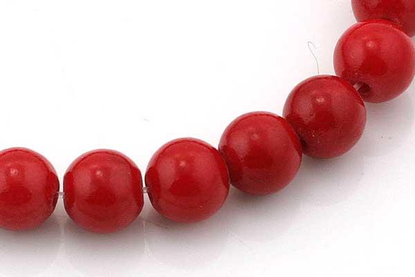 Mashan Jade rød 6 mm