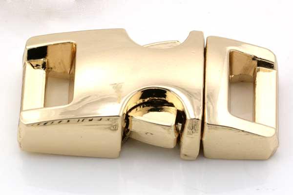 Lås til faldskærmsline aluminium guldfarve Lille