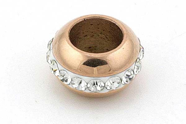 Rustfri stål led Rose Guld 6,5 mm hul
