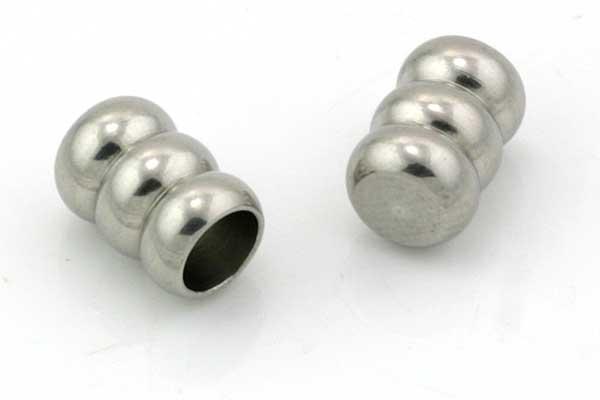 Rustfri stål enderør 5 mm hul