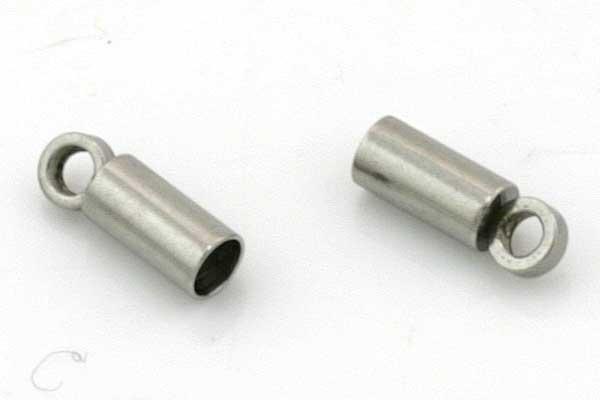 Rustfri stål enderør 2 mm hul 10 stk