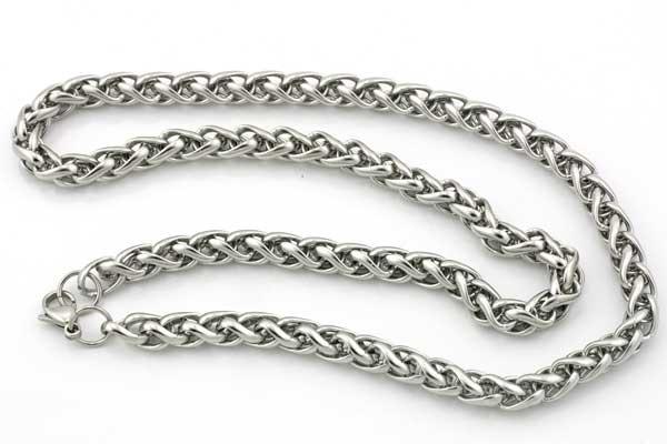 Rustfri stål kæde 7 mm med lås