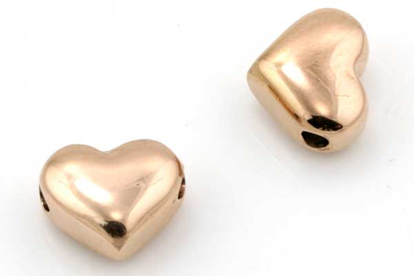 Rustfri stål perle Rose Guld 2 mm hul