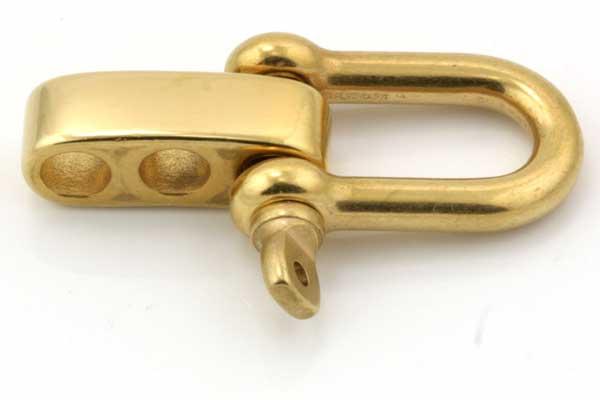 Lås til faldskærmsline rustfri stål Guldfarve
