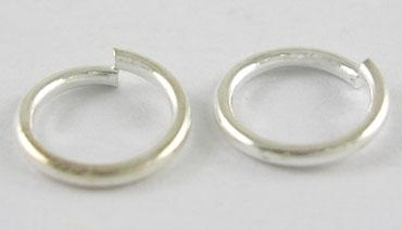 O-ring 3,7 mm hul sølv farvet 100 stk
