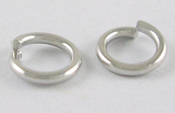 O-ring 4 mm hul platin farve 100 stk