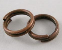 O-ring dobbelt 5,6 mm hul Rød kobber farvet 50 stk
