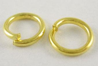 O-ring 4,6 mm hul guld farve 100 stk