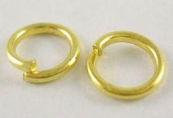 O-ring 5,7 mm hul guldbelagt 100 stk