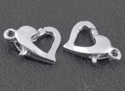 Smykkelås sølv farvet 10 stk.
