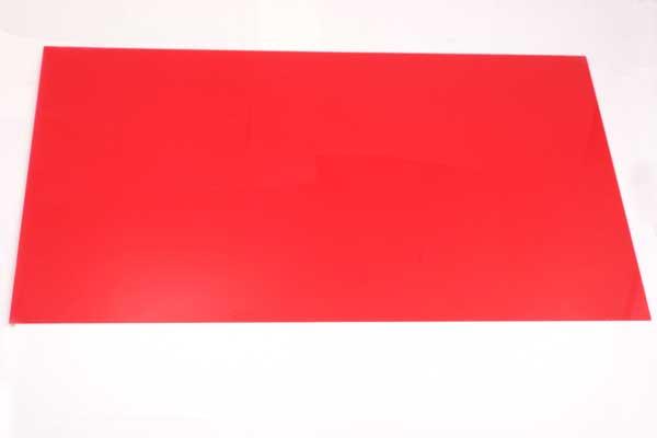Krympeplast ark Rød 29x20 cm