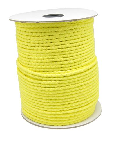 Imiteret lædersnøre ca.4,6 mm gul
