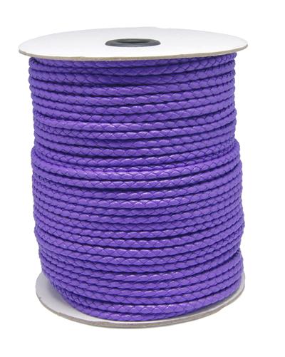 Imiteret lædersnøre 3 mm lilla