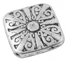 Tibetanske sølv perler Silver 10 stk