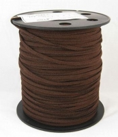 Ruskind snøre flad 3 mm brun