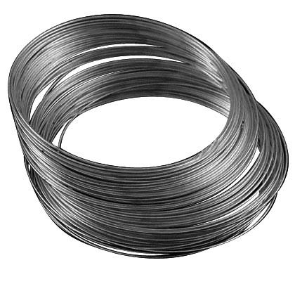 Memorywire til armbånd rustfri stål gunmetal