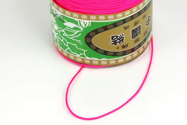 Nylonsnøre 1,5 mm neon pink