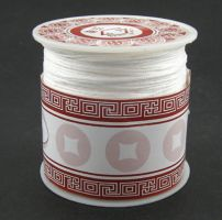 Knyttesnor Hvid 1,0 m/m  Nylon