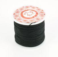 Knyttesnor sort 1,0 m/m  Nylon
