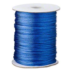 Satinsnøre blå 1,5 mm
