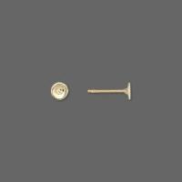 Ørestikker guld belagt 4 mm flad