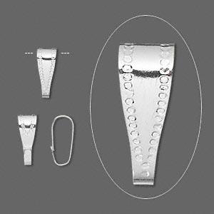 Patz til vedhæng, 10 mm sølv belagt 20 stk