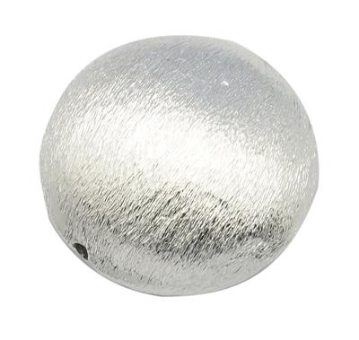 Flad rund perle børstet 26 mm