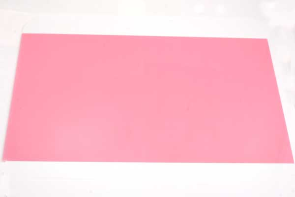 Krympeplast ark Pink 29x20 cm