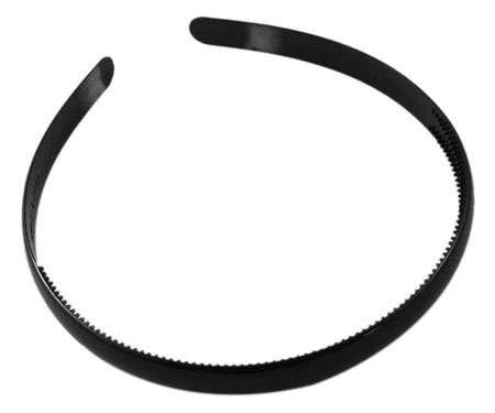 Hårbøjle sort acryl 8 mm