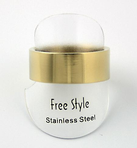 Fingerring rustfri stål guld
