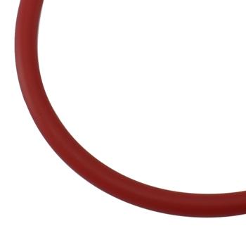 Gummisnøre 4 mm hul rød