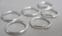O-ring 6 mm  hul sølv farve 50 stk