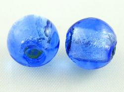 Glasperler lampwork Blå 12 mm