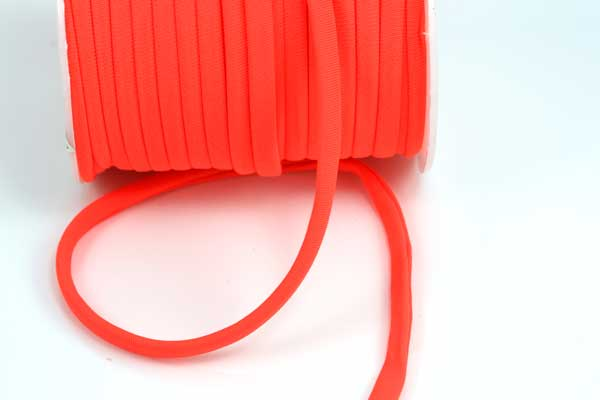 Kimonosilke 5 mm Neon orange 0,5 m