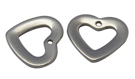 Rustfri stål vedhæng hjerte nr.2