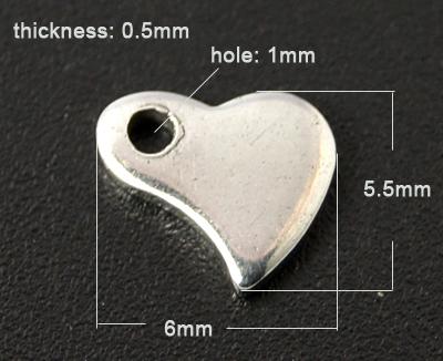 Rustfri stål vedhæng hjerte nr.1