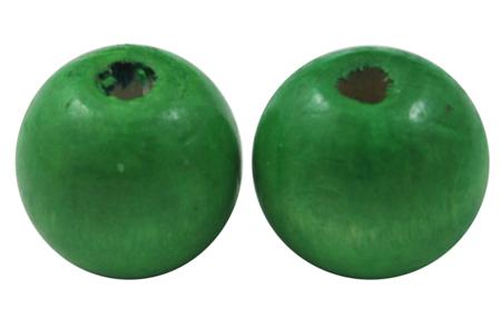 Træperler 12 mm grøn 20 stk